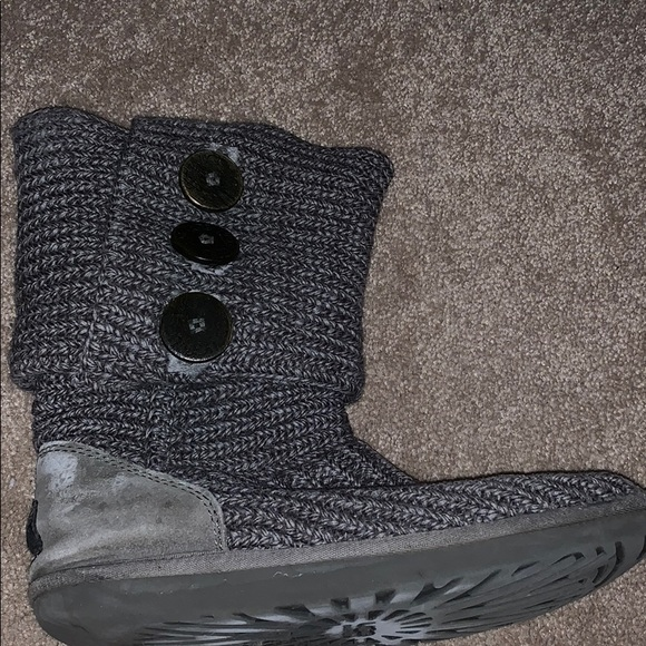 UGG Shoes - Gray knit ugg boot